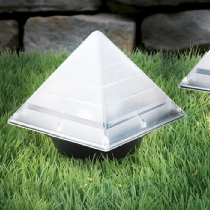 BRELONG Sensor Solar Ground Lights Pyramid Shaped Underground Buried Light Outdoor Garden Lawn Path