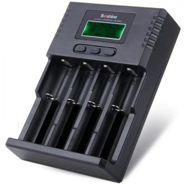 Soshine H4 US Plug 4-Slot Battery Charger