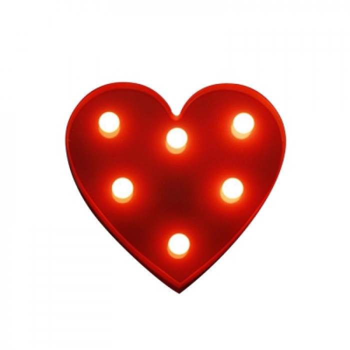 BRELONG 3D Warm White Kids Room  Night Light Christmas   Wedding Decorative 4.5V - Heart ( No Batter