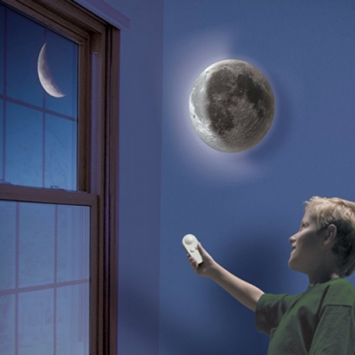 Creative Remote Control Moon-shape Romantic Wall Lamp