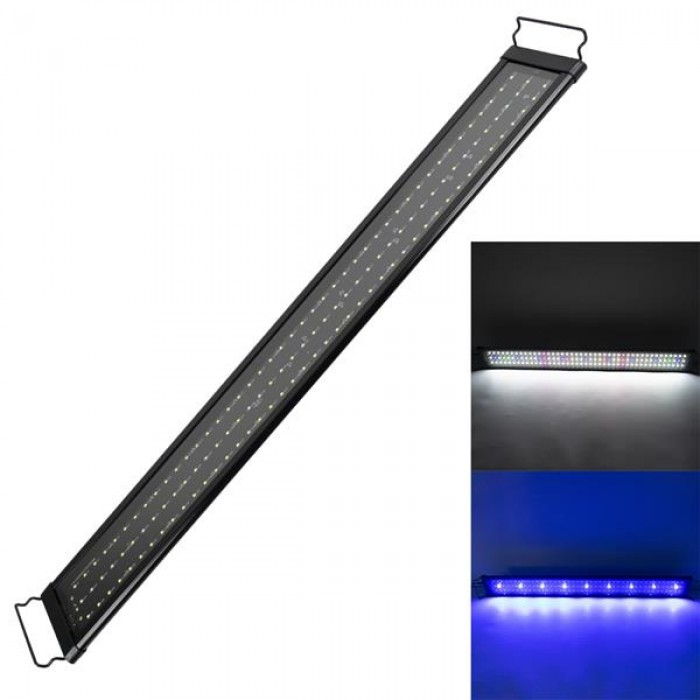 [US-W]20W 129LED Full Spectrum Water Grass Lamp 35.43inch Black US Standard ZC001221 (Suitable For 35.43-43.3inch Long Aquarium)