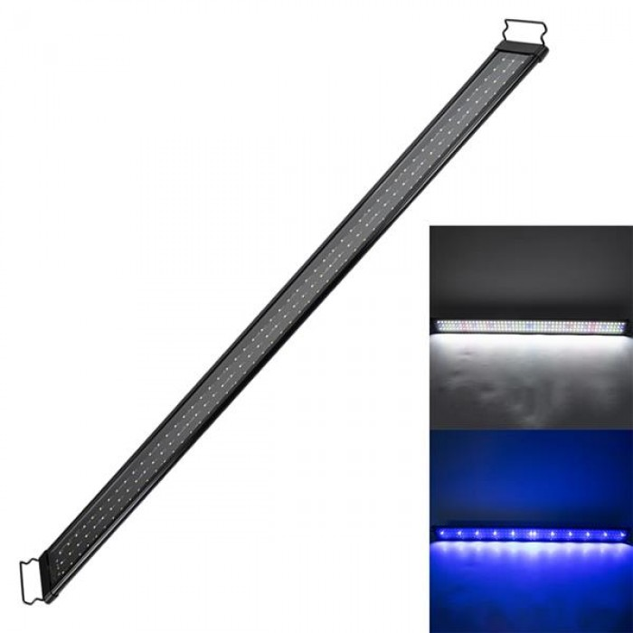 [US-W]24W 156LED Full Spectrum Water Lamp 47.2inch Black US Standard ZC001222 (Suitable For 47.2-55.1inch Long Aquarium)