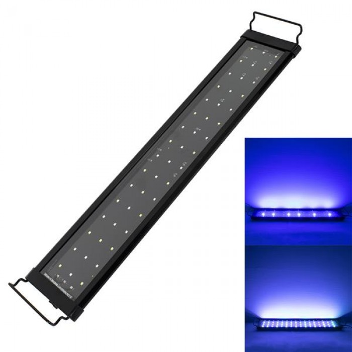 [US-W]15W 48LED Full Spectrum Sea Coral Lamp 23.6inch Black US Standard ZC001223 (Suitable For 23.6-31.49inch Long Aquarium)