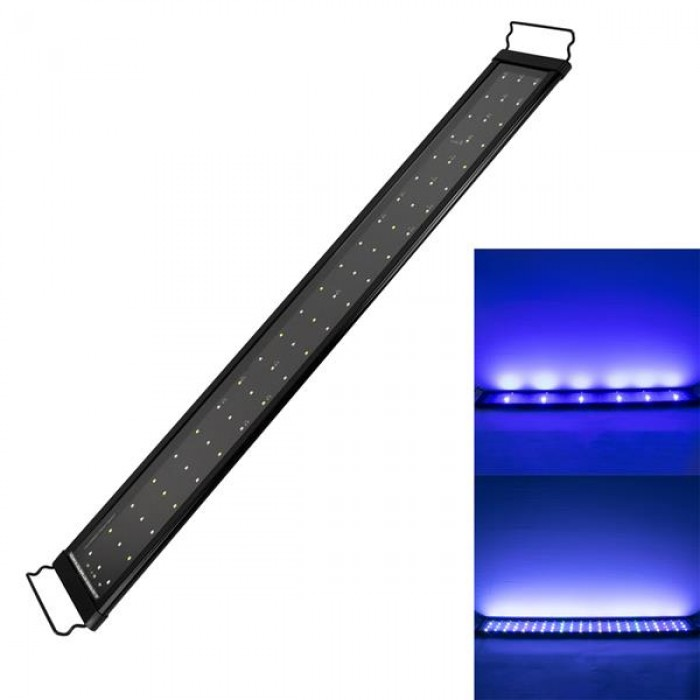 18W 66LED Full Spectrum Sea Coral Lamp 35.43inch Black US Standard ZC001224 (Suitable For 35.43-43.3inch Long Aquarium)