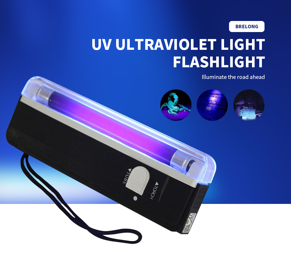 BRELONG UV Ultraviolet Light Portable Flashlight