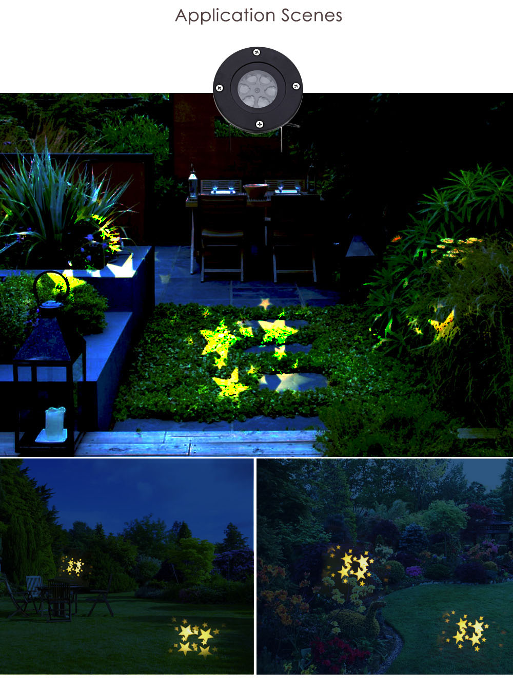 100 - 240V 4W LED Waterproof Star Light Landscape Projector Lamp for Outdoor