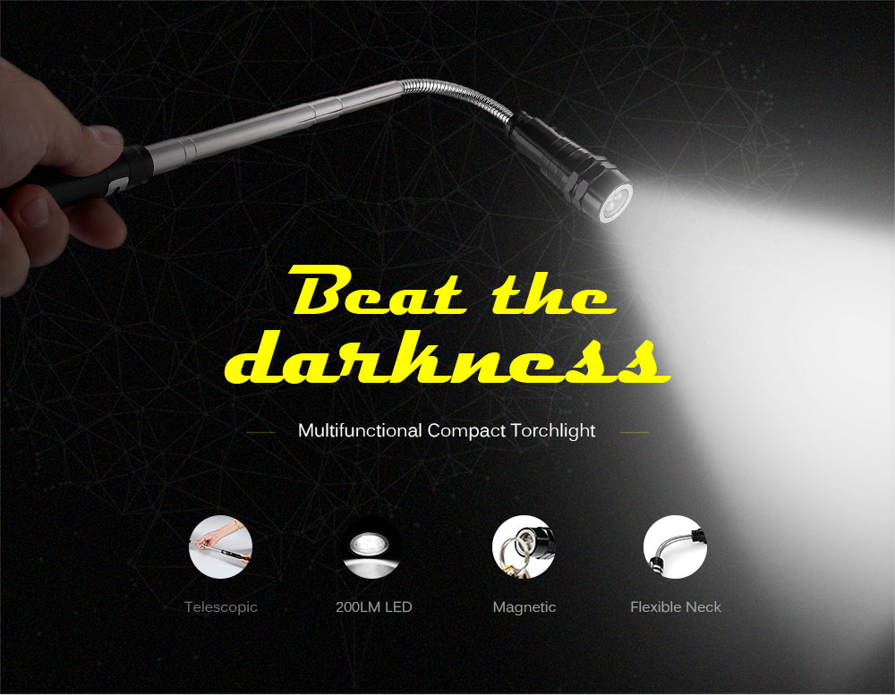 200LM Single Modes Flexible LED Multifunctional Flashlight for Camping / Hiking / Cycling ( 4 x LR44 Battery )