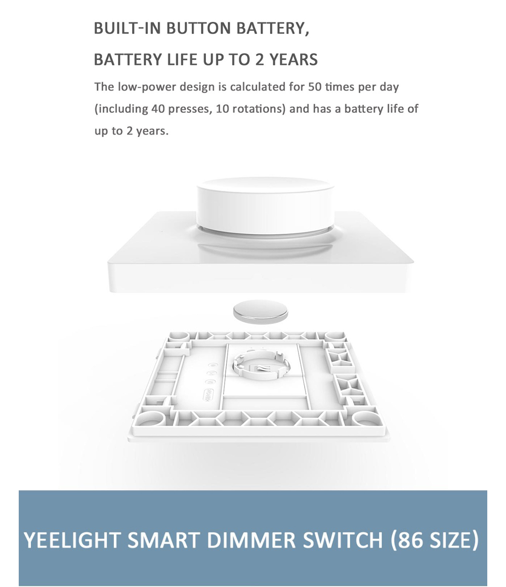 Yeelight Bluetooth Dimmer Switch Smart Controller Paste - White Paste