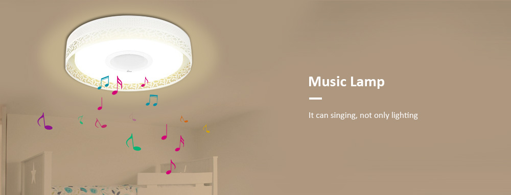 iLifeSmart S26 4160LM LED Music Flush Mount Ceiling Light Bluetooth 4.0 Control Recessed Fixture Lamp
