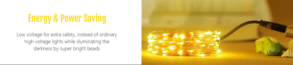 KPSSDD 10m 100-LED USB Light Strip for Decorationt