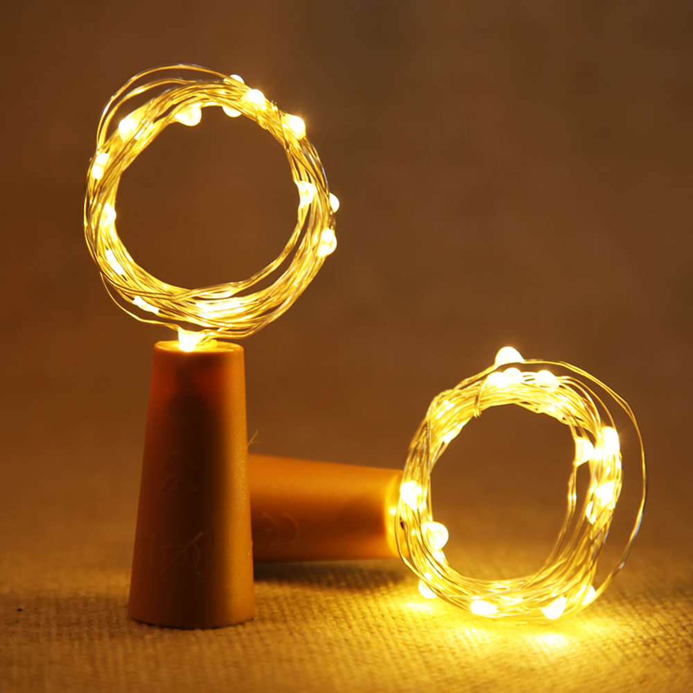 BRELONG 20LED Wine Stopper Brass Lights Decorative Light String