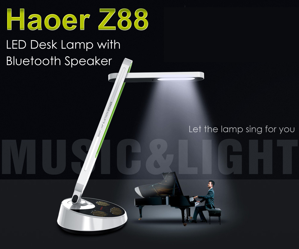Haoer Z88 Flexible LED Desk Lamp Bluetooth Speaker 5 Brightness Levels